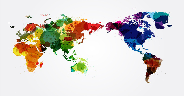 Vector EPS World map