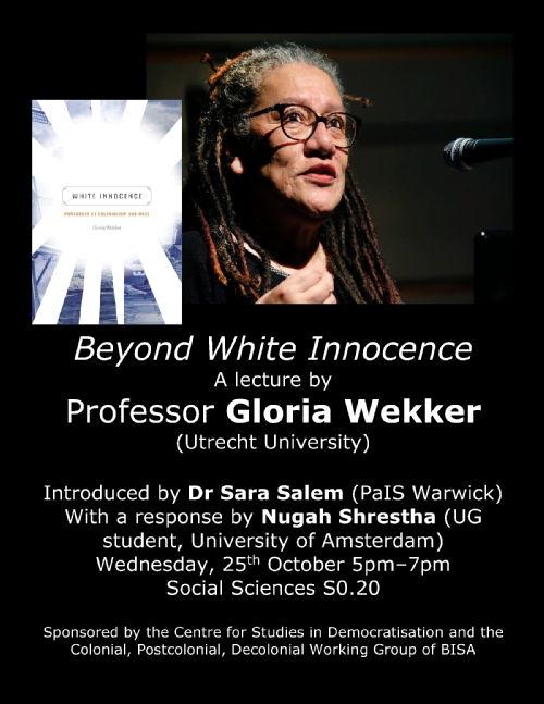 Guest Lecture: Professor Gloria Wekker