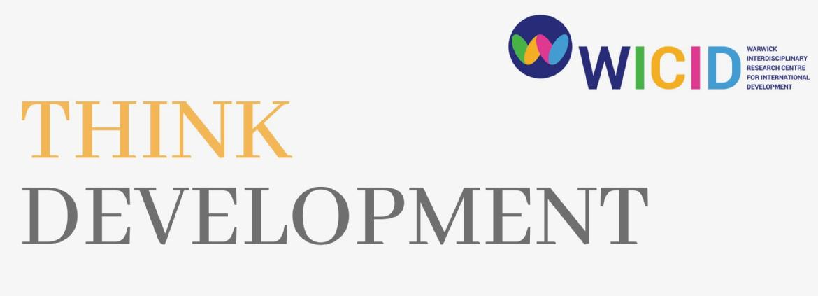 Think Development in all capitals and the WICID logo underneath