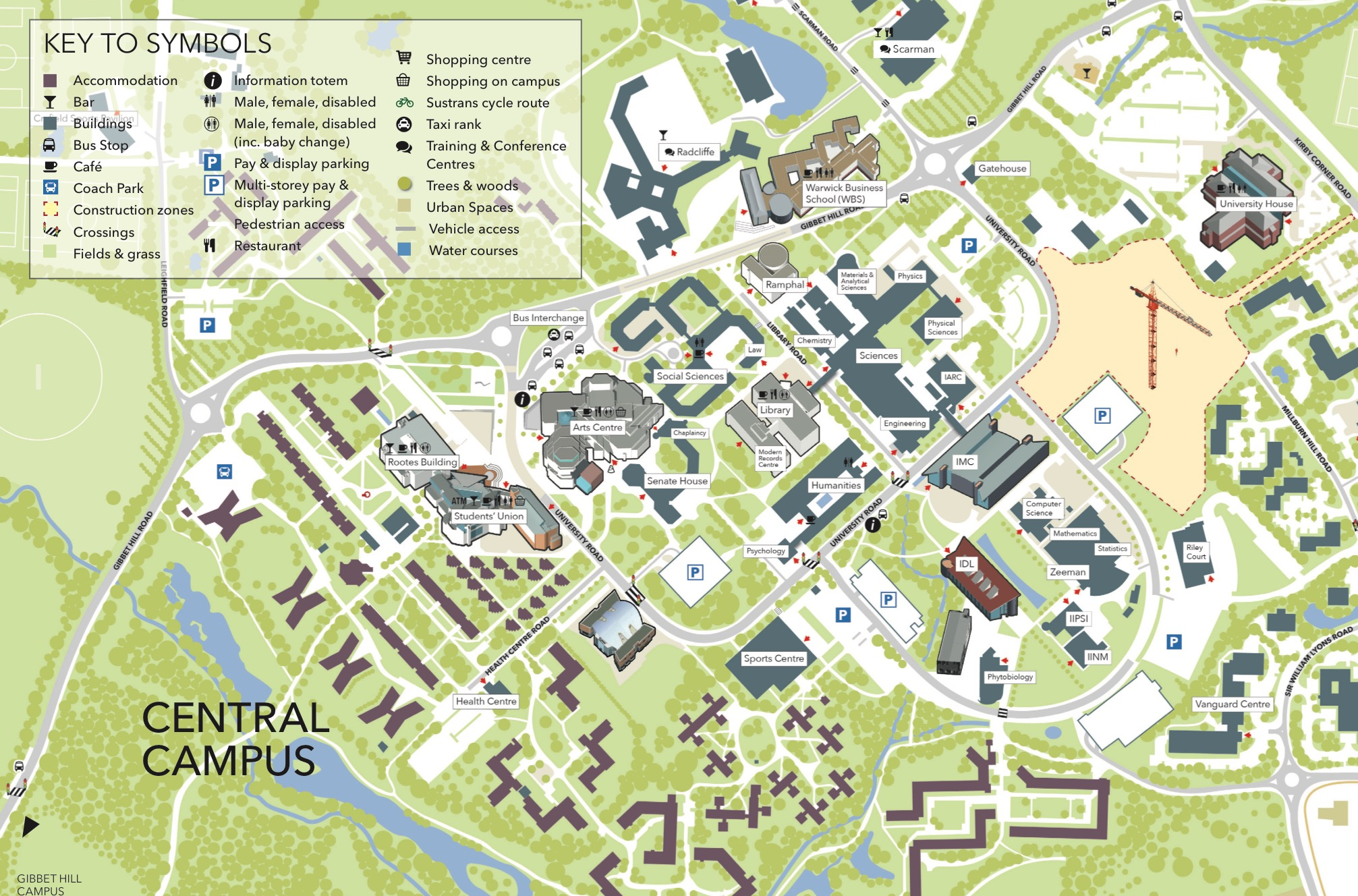 Interactive Campus Map Warwick Getting Here