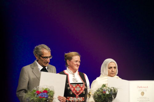 laureates receiving their award