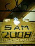 Sam Jones: Sam's dad fashioned this oak block to display pebbles from solo and relay Channel swims.
