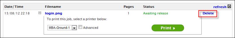 how to delete print jobs in queue