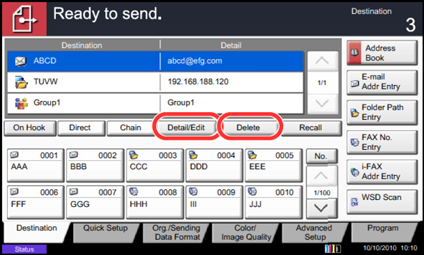Scanning directly to email from Kyocera MFDs