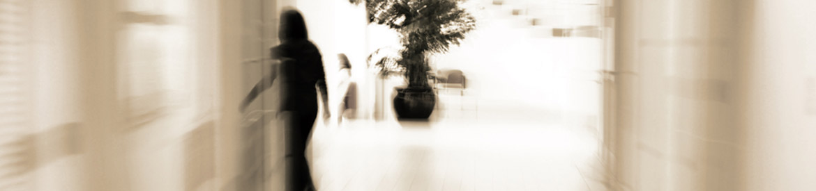 Blurred silhouette of business person