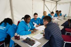 Residential Life team advising students