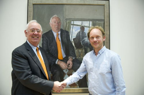 Sir Nick Scheele with James Lloyd