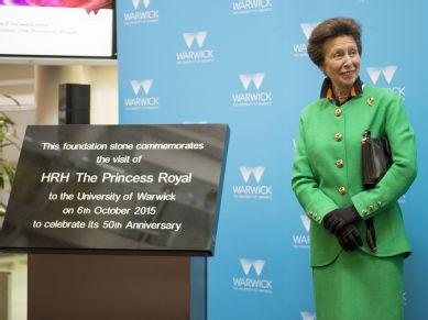 Princess Anne unveiling foundation stone