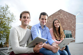 Members of the Reinvention editorial team L-R James Hamp, Jure Jeric and Megan Roberts.