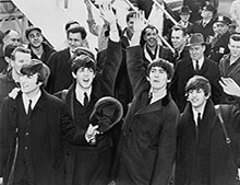 The Beatles touch down in America