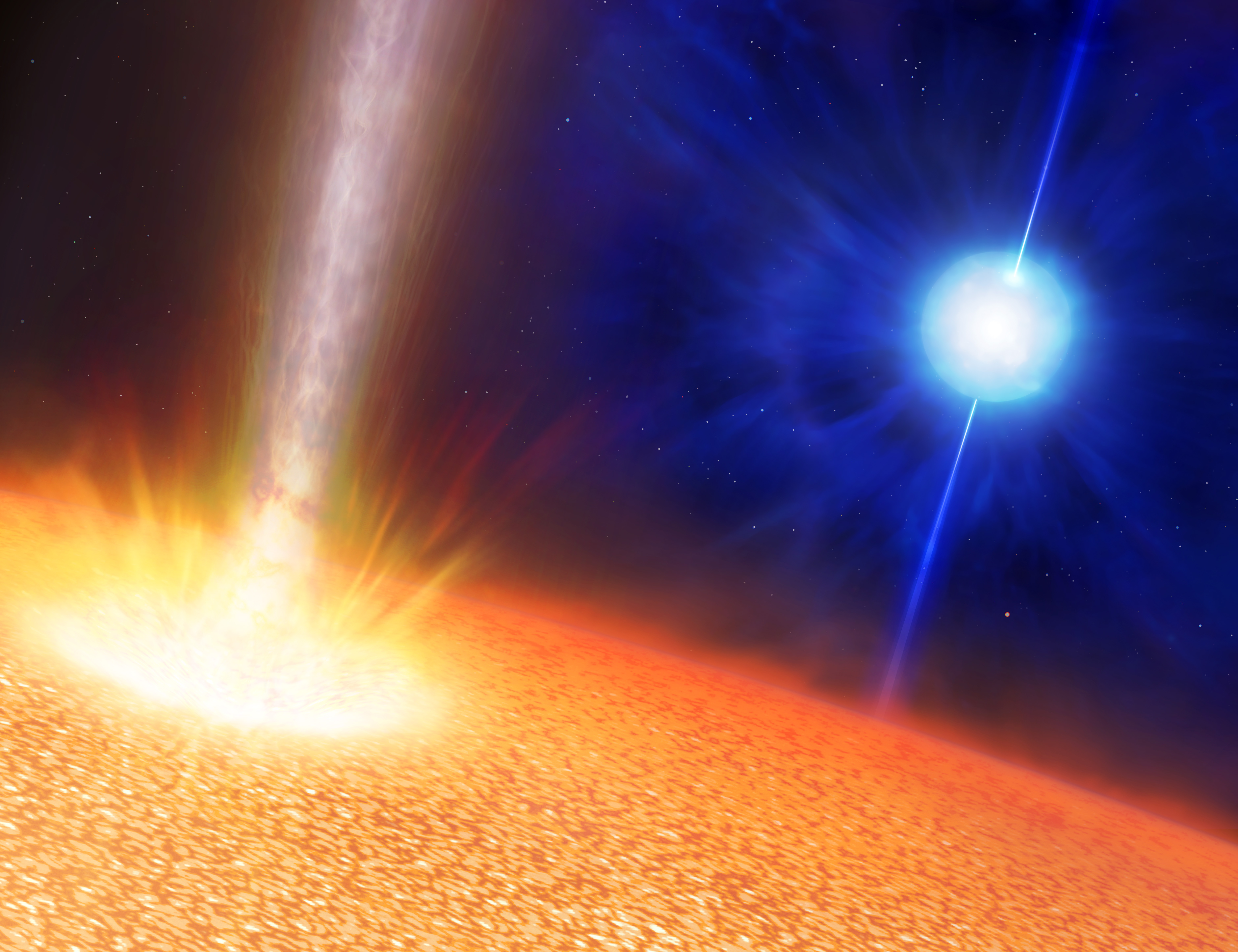 new potential class of long gamma ray bursts Focus: gamma-ray bursts determine potential locations for life december 8, 2014 &bullet physics 7, 124 powerful stellar explosions may have caused mass extinctions on earth and could also have prevented life from appearing on other planets until 5 billion years ago—and then only in the outskirts of galaxies.