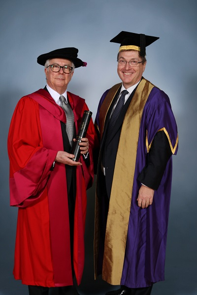 Author and campaigner Ken Follett CBE awarded Honorary Doctor of Letters degree by University of Warwick