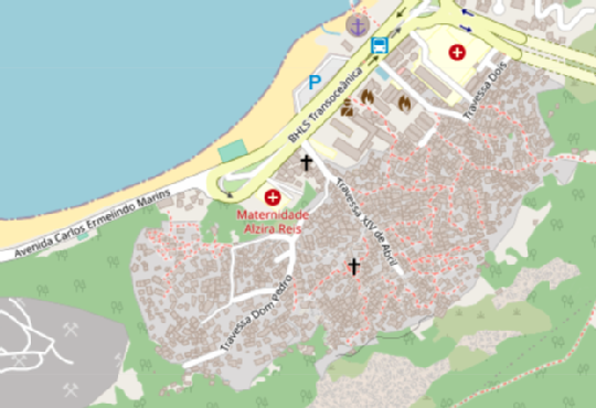 Example of detailed map of the Morro do Preventorio district