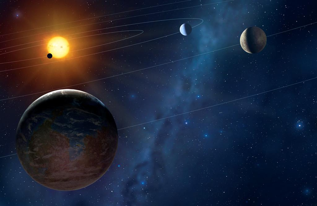 Four White Dwarf Stars Caught In The Act Of Consuming Earth Like