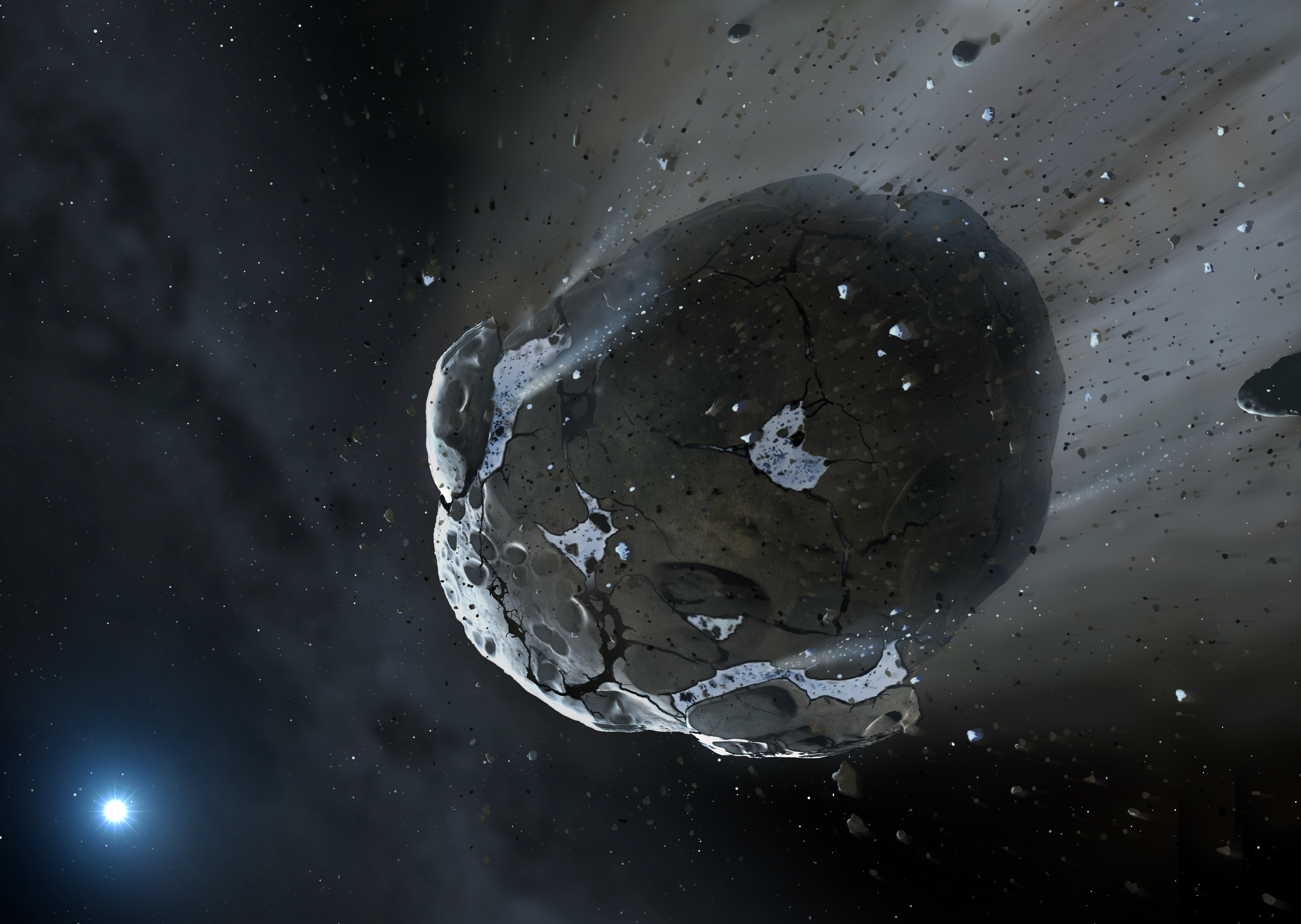 water discovered in remnants of extrasolar rocky world