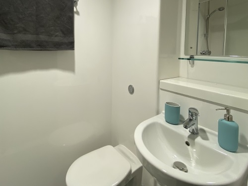Bathroom showing toilet and sink