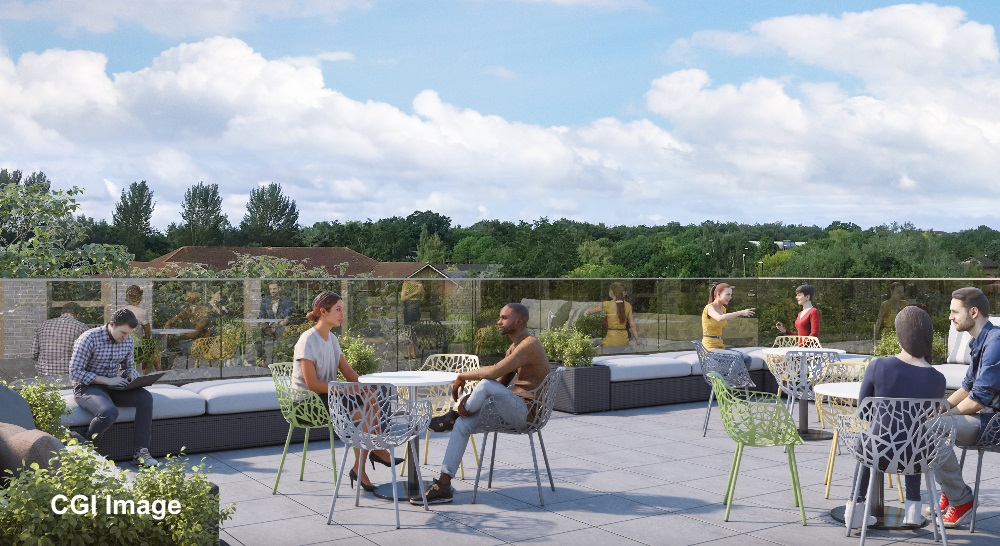 Roof Garden at The Oaks - CGI Image