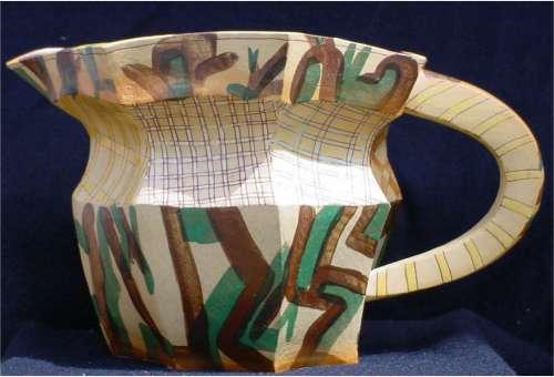 Slab Built Stoneware Jug by Alison Britton OBE