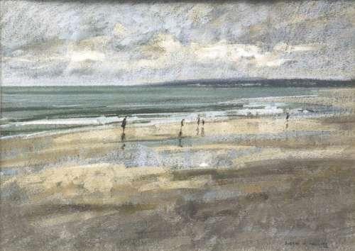 Breezy Day, Northumberland Coast by Aubrey R Phillips RWA