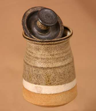 Lidded Pot with Top Knot by Bryan Newman