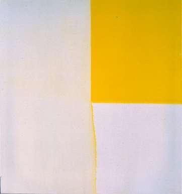 Exposed Painting Zinc Yellow 1996 by Callum Innes