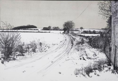 Snow Scene by Creasy