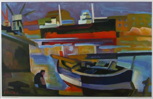 Cargo Ship in Sete by Gabriel Couderc