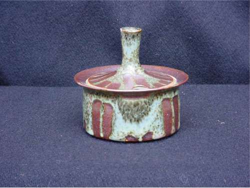 Lidded Pot with Extended Knob by Glyn Hugo