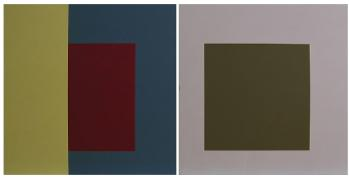 Painting No.3 (Woburn) (Diptych) by Jean Spencer