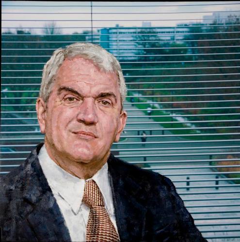 Portrait of Professor David VandeLinde by John Keane