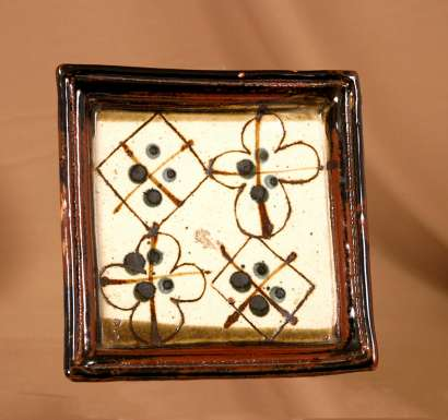 Rectangular Decorated Dish by John Maltby
