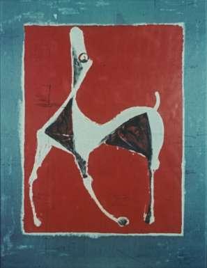 Cheval Au Fond Rouge by Marino Marini