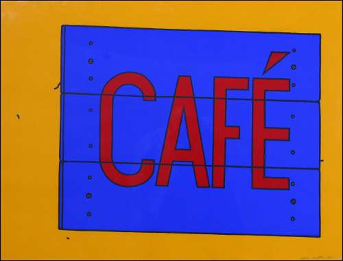Cafe Sign by Patrick Caulfield