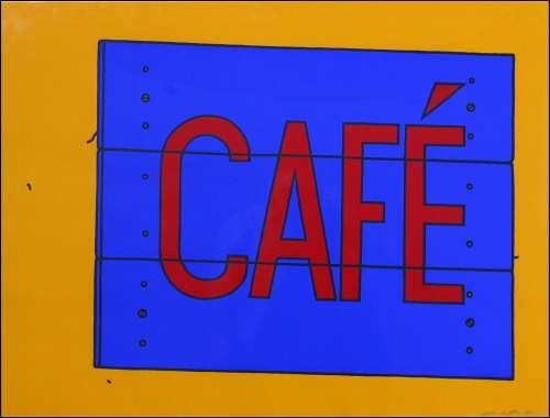 Cafe Sign by Patrick Caulfield