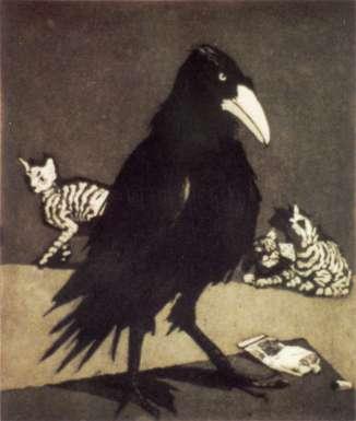 Crow by Paula Rego