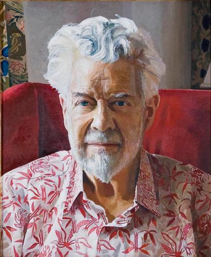 Portrait of Professor Sir Christopher Zeeman FRS by Peter Edwards
