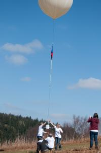 The moment the prototype balloon was launched