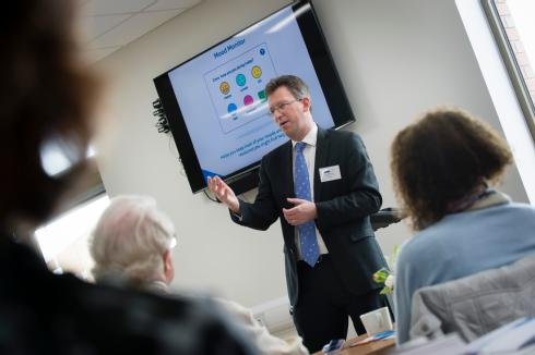 The Rt Hon Jeremy Wright QC MP speaking at the launch of the Care Companion. Credit: University of Warwick/Katie Neeves