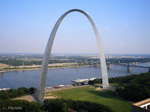 Gateway Arch in St Louis. Credit: Jane Lloyd Nichols