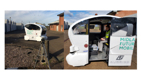 Caption: Senior Researcher Dr Erik Kampert performing measurements during one of the Lab2Live field trials that were supported by the Midlands Future Mobility Testbed.