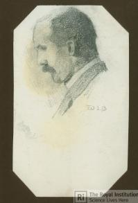 Sketch of William Henry Bragg by William Lawrence Bragg, Credit: Royal Institution