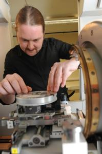 Phil Hurst from 3-Cs using the University of Warwick equipment supplied via Birmingham Science City