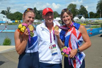 Katherine Grainger, Mr Paul Thompson and Anna Watkins