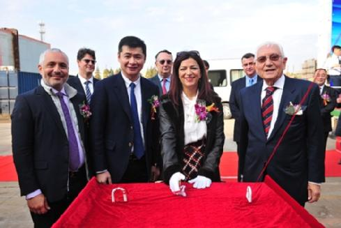 The christening ceremony of the 82,000 tonne ship took place in the Yangzijiang shipyard in Jingjiang, China, by breaking a bottle of champagne over her side as she was named AESCHYLUS GRAECIA by Dr Emmanuela Bakola.