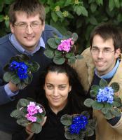 Professor Gregory Challis (left) , Nadia Kadi,  and Dr Daniel Oves-Costales