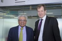 Professor Lord Bhattacharyya and Alastair Campbell