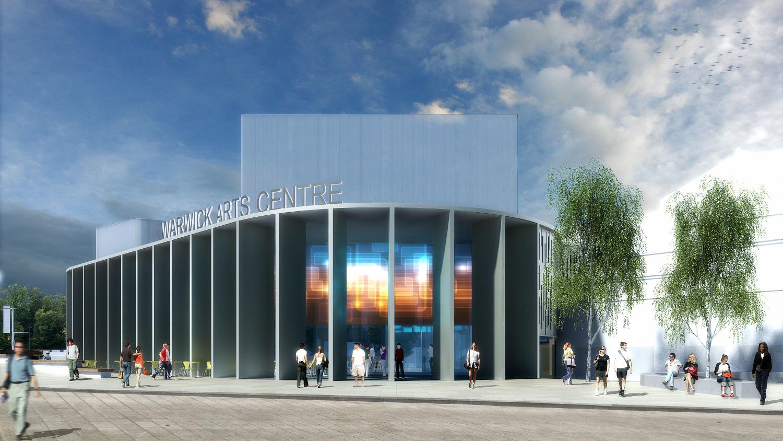 Alan rivett longstanding director of warwick arts centre for Entrance to rivet city
