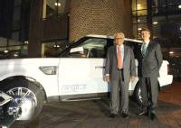 WMG Chairman Professor Lord Bhattacharyya  and Dr Ralf Speth the chief executive of Jaguar Land Rover