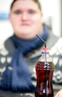 The straw holder designed by Ollie Baskaran