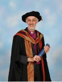 Bishop of Manchester on receiving his degree at the University of Warwick